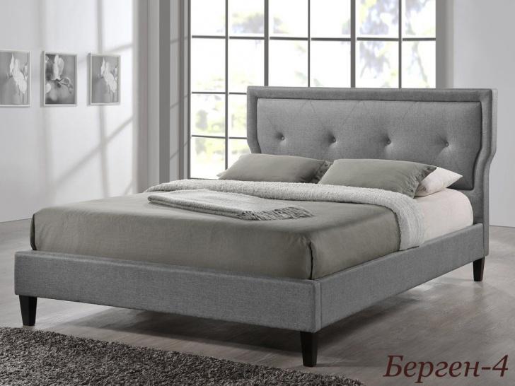 Мягкая кровать с высоким изголовьем «Берген-4»