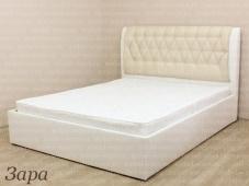 Кровать с мягким изголовьем недорого «Зара»