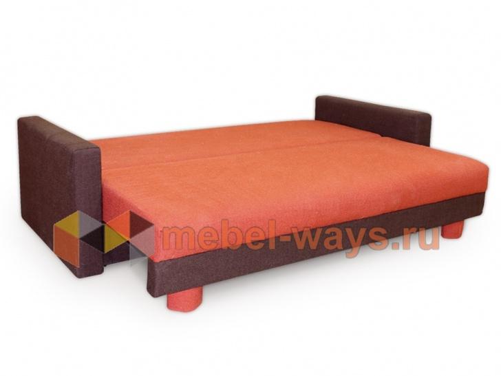 Мягкий диван еврокнижка «Бонн» в трансформации