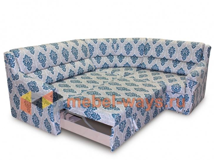 Мягкий угловой диван «Баден» в трансформации