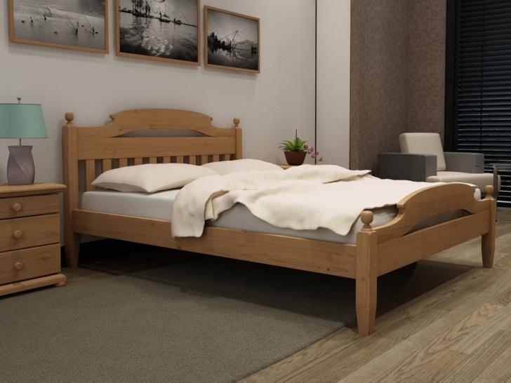 Натуральная деревянная кровать с балясинами «Идиллия-13»