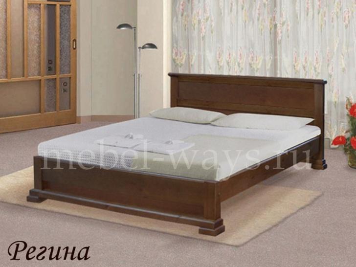 Недорогая кровать из дерева «Регина»
