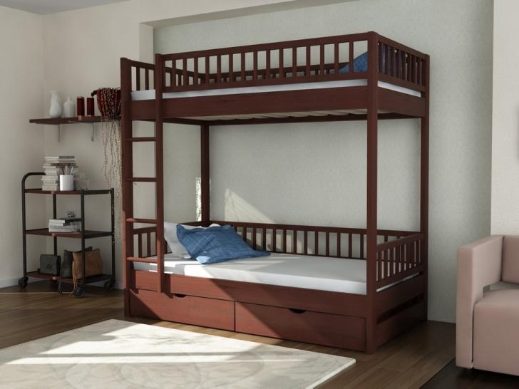 Недорогая двухэтажная кровать из дерева «Руфина 30»