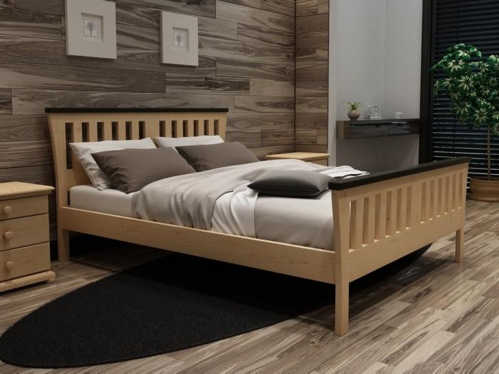 Недорогая кровать из массива сосны «Идиллия-3»