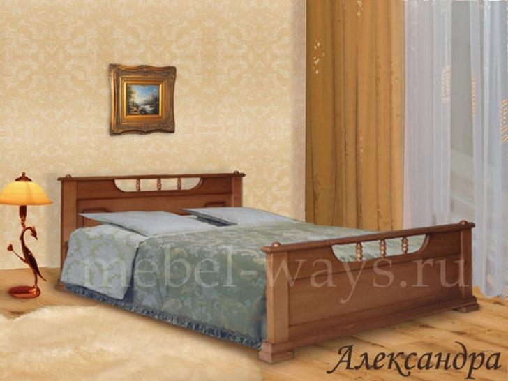 Двуспальная кровать из массива сосны «Александра»