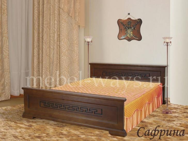 Недорогая двуспальная кровать «Сафрина»