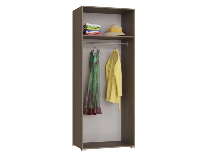 Недорогой распашной 2-х створчатый шкаф «Дизайн Люкс – 25» внутри