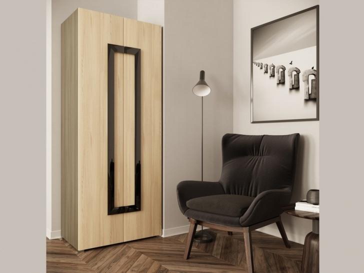 Недорогой распашной 2-х створчатый шкаф «Дизайн Люкс – 25»