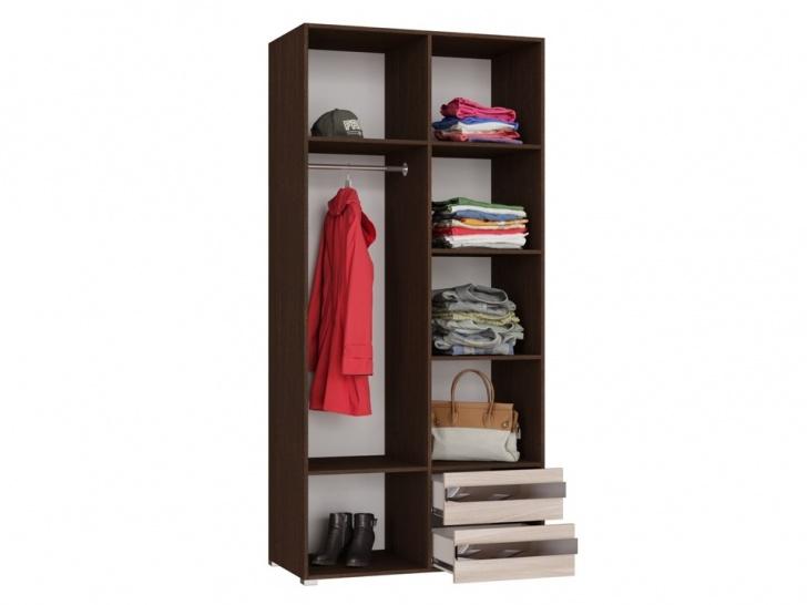 Недорогой распашной шкаф «Дизайн Люкс – 3» внутренний вид