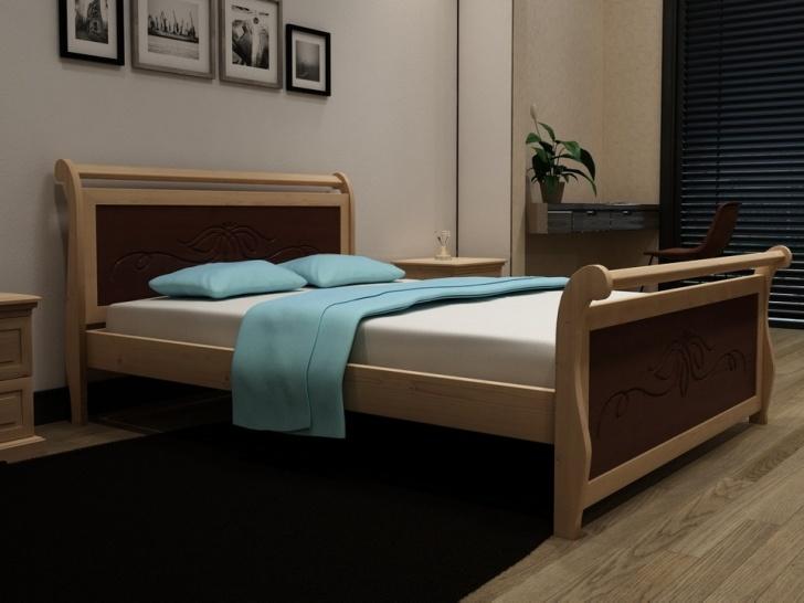Необычная кровать из дерева сосны «Идиллия-7»