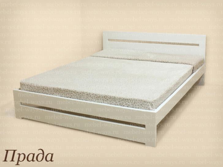 Деревянная односпальная кровать 90х200 «Прада»