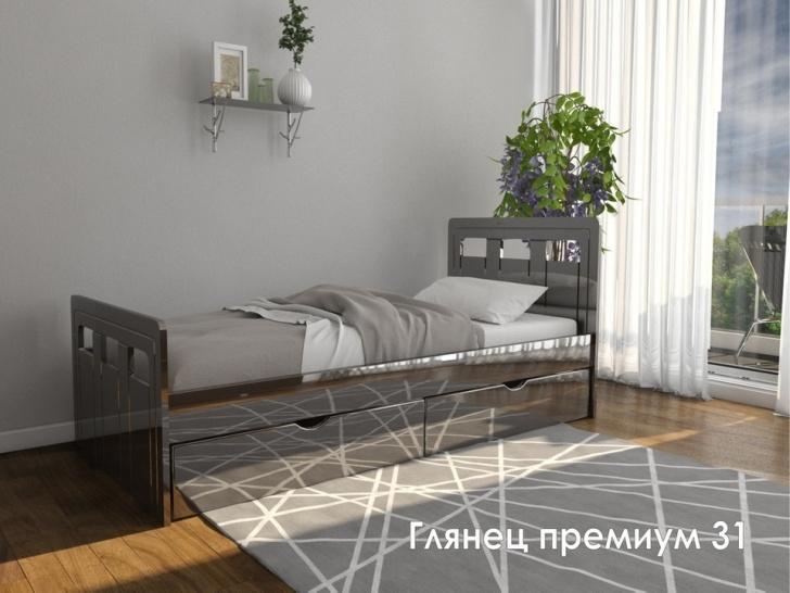 Односпальная кровать МДФ с ящиками «Глянец Премиум-31»