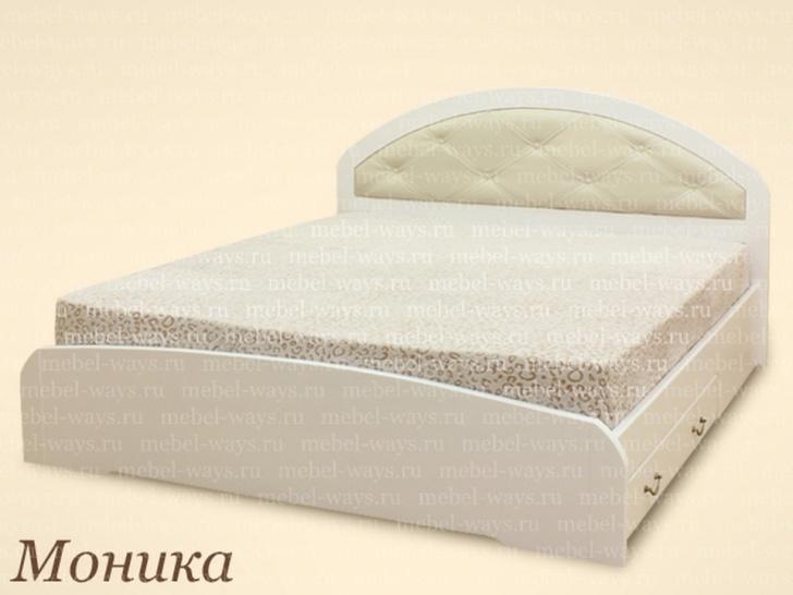 Белая кровать кожзам «Моника»