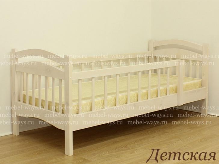 Односпальная кровать с бортиком «Детская»