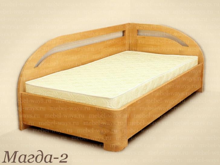 Кровать односпальная со спинкой по длинной стороне «Магда-2»