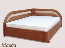 Угловая кровать с боковыми спинками «Магда»