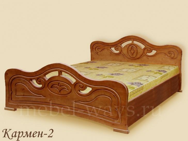 Красивая односпальная кровать «Кармен-2»