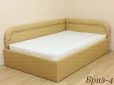 Мягкая кровать с угловыми спинками «Бриз-4»