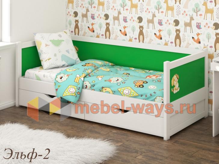Оригинальная детская кровать с тремя спинками «Эльф-2»
