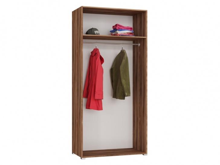 Платяной двустворчатый шкаф «Дизайн Люкс – 2» вид изнутри