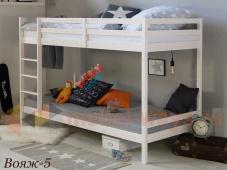 Подростковая двухэтажная кровать из натурального дерева «Вояж-5»