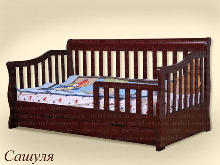 Подростковая кровать с бортиком и ящиками «Сашуля»
