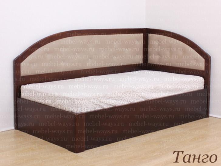 Кровать полутораспальная с боковой спинкой «Танго»