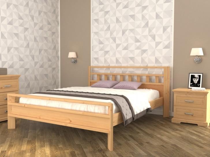 Простая кровать из дерева «Августина-5»