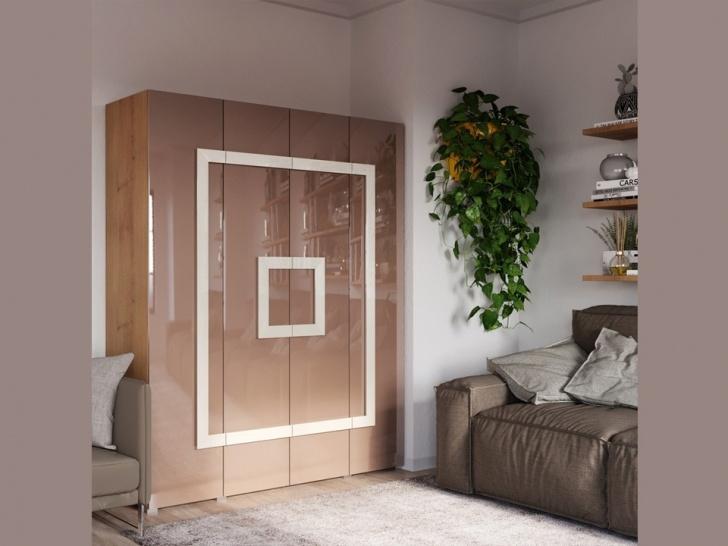 Распашной 4-х створчатый шкаф «Дизайн Люкс – 18»