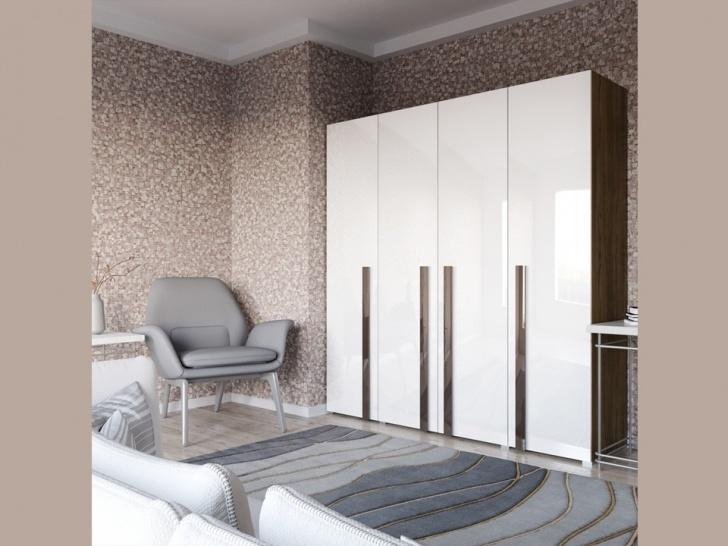 Распашной четырехстворчатый шкаф «Дизайн Люкс – 13»
