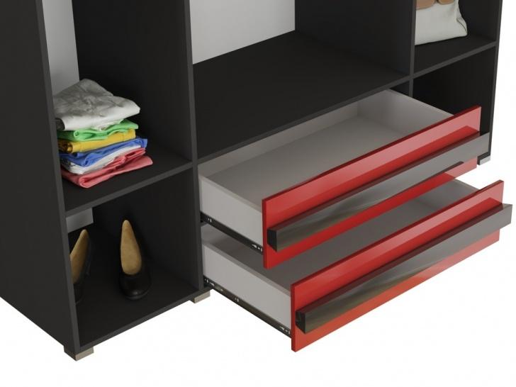 Распашной шкаф четырехстворчатый с ящиками «Дизайн Люкс – 37» с ящиками