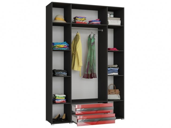 Распашной шкаф четырехстворчатый с ящиками «Дизайн Люкс – 37» внутри