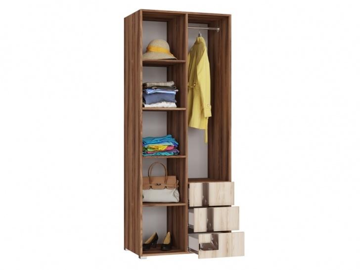Распашной шкаф для гостиной комнаты «Дизайн Люкс – 34» внутри