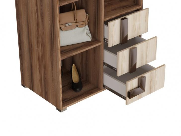 Распашной шкаф для гостиной комнаты «Дизайн Люкс – 34» с ящиками