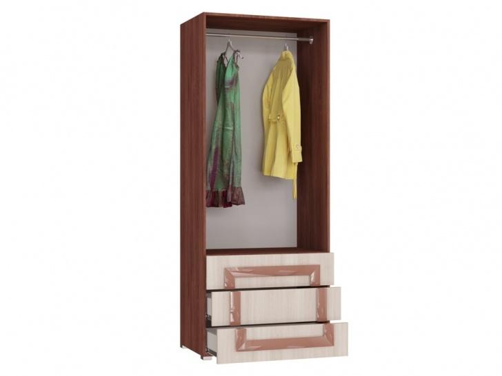 Распашной шкаф для одежды «Дизайн Люкс – 35» внутри