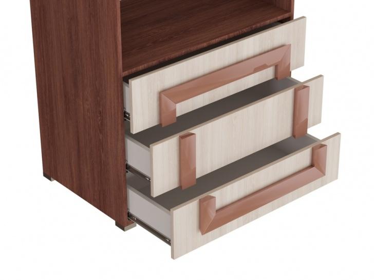 Распашной шкаф для одежды «Дизайн Люкс – 35» с ящиками