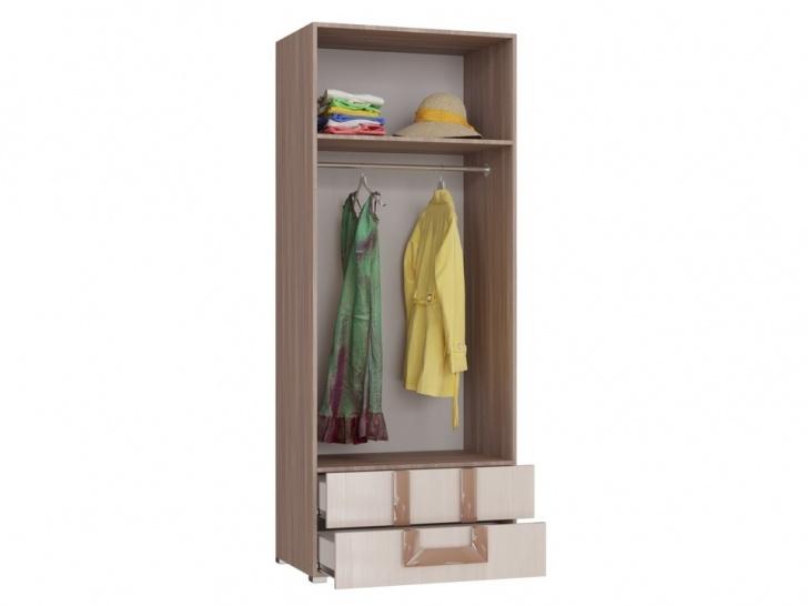 Распашной шкаф для одежды с выдвижными ящиками «Дизайн Люкс – 28» внутри