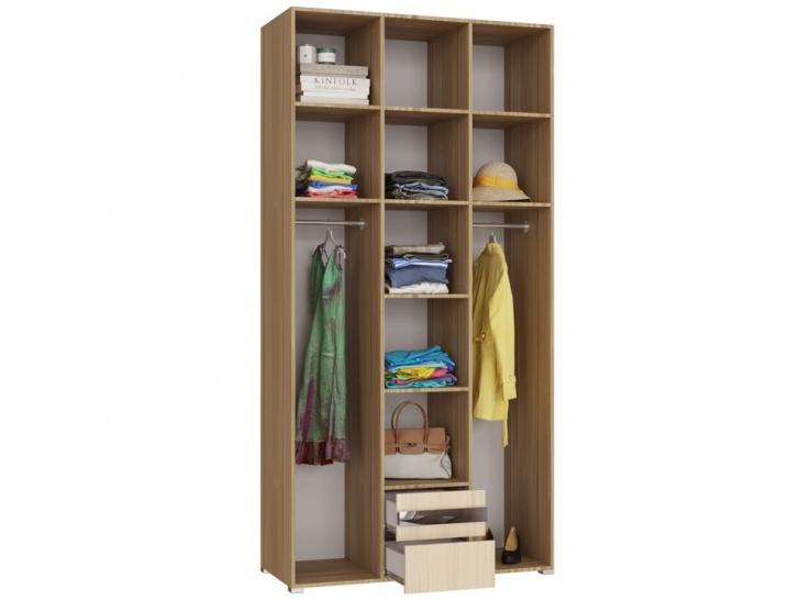 Распашной шкаф с антресолью в прихожую «Дизайн Люкс – 26» внутри