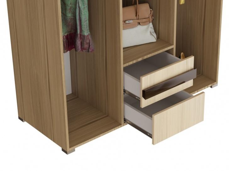 Распашной шкаф с антресолью в прихожую «Дизайн Люкс – 26» с ящиками