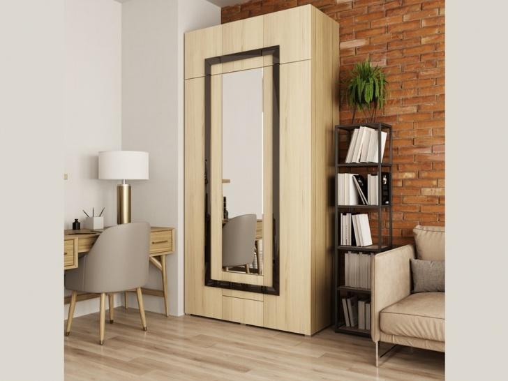Распашной шкаф с антресолью в прихожую «Дизайн Люкс – 26»