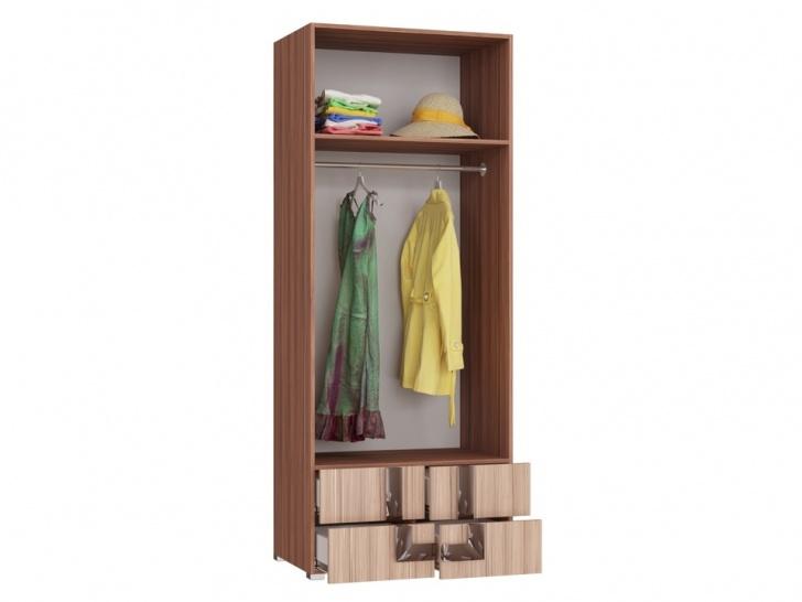 Распашной шкаф с выдвижными ящиками «Дизайн Люкс – 27» внутри