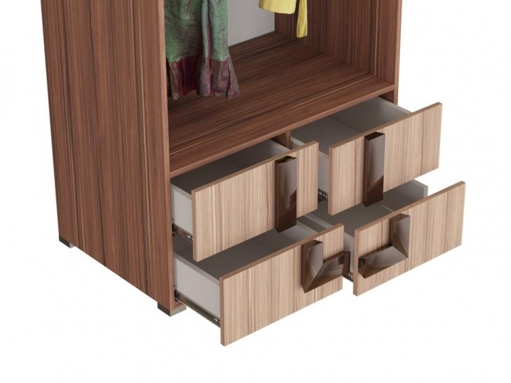 Распашной шкаф с выдвижными ящиками «Дизайн Люкс – 27» с ящичками