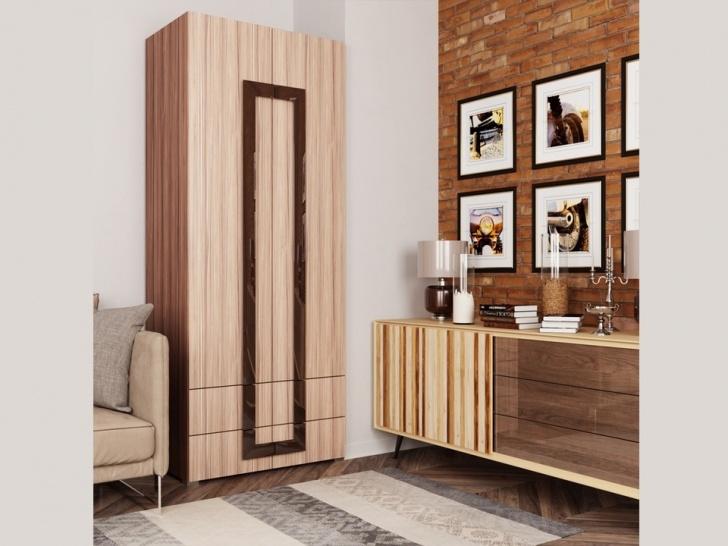 Распашной шкаф с выдвижными ящиками «Дизайн Люкс – 27»