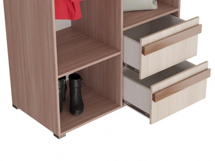 Распашной шкаф с зеркалом «Дизайн Люкс - 1» с ящиками