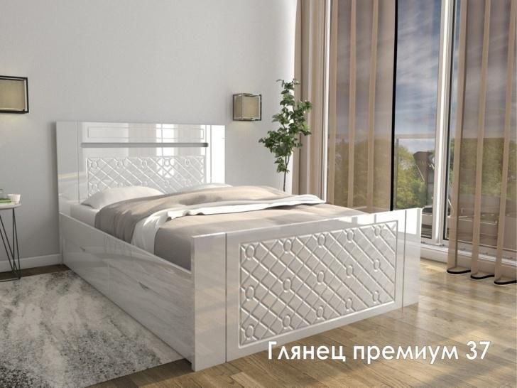 Резная кровать МДФ «Глянец Премиум – 37»
