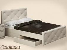 Белая кровать с ящиками для хранения «Сантана»