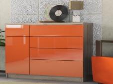 Модный оранжевый комод «Шайн-14»