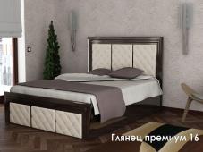 Шикарная двуспальная кровать «Глянец Премиум – 16»
