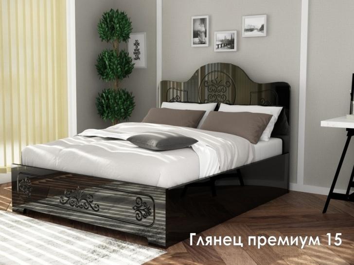 Шикарная кровать МДФ «Глянец Премиум – 15»