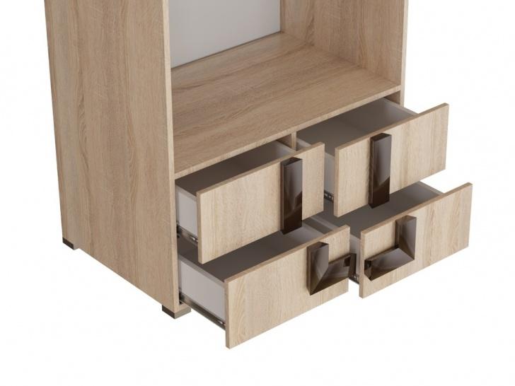 Шкаф двухстворчатый с антресолью «Дизайн Люкс – 31» с ящиками